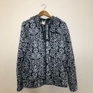 The North Face Floral Zip Hoodie Sweatshirt